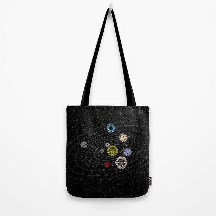 Mandala Solar Sistem Tote Bag