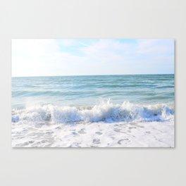 Waves Crashing Canvas Print