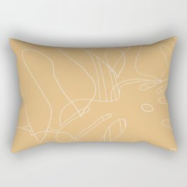 Monstera No2 Yellow Rectangular Pillow