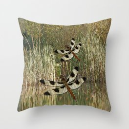 Dragonfly Pond Throw Pillow
