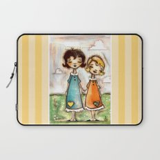 A Childhood Shared - Sister Art Laptop Sleeve