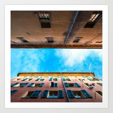 Patch of Blue in Vieux Nice Art Print