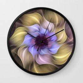 Fractal Flower Wall Clock