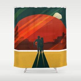 Phobos Deimos Shower Curtain