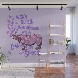 Nashorn Einhorn Motivation Humor Wall Mural
