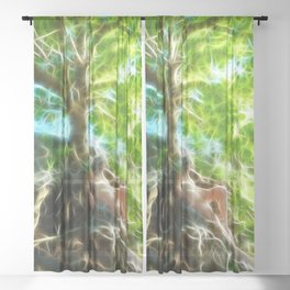 0789f-JAS Tree of Life Energy Flow Visualized Sheer Curtain