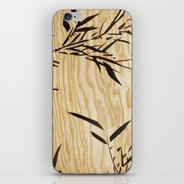 Japanese bamboo buddha wood art iPhone Skin
