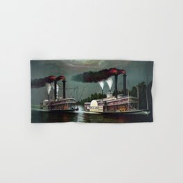 Race Of The Steamers Robert E. Lee and Natchez Hand & Bath Towel