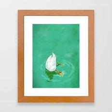 Duck diving Framed Art Print