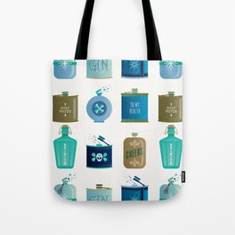 Flask Collection – Blue and Tan Palette Tote Bag