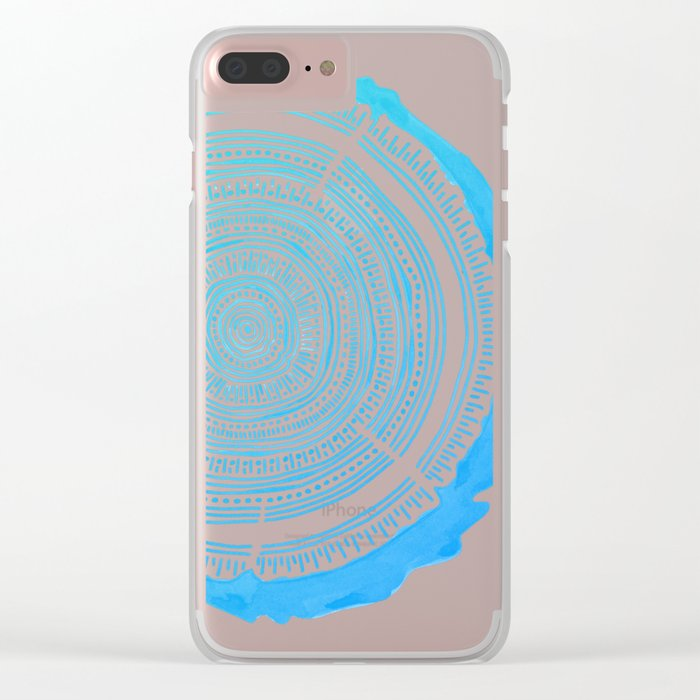 Douglas Fir – Blue Ombré Clear iPhone Case