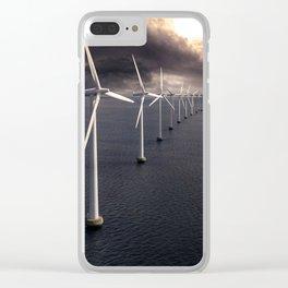 Windmill farm at sea Clear iPhone Case