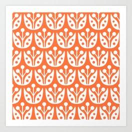 Mid Century Flower Pattern 4 Art Print