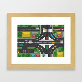 Streetview Framed Art Print
