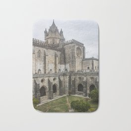 Wonderful view of the lovely cloister garden of the Cathedral of Evora, in Portugal. Bath Mat
