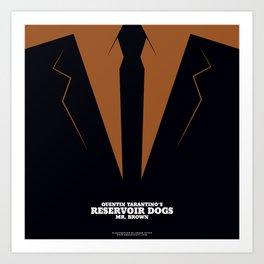 Reservoir Dogs Mr. Brown Art Print