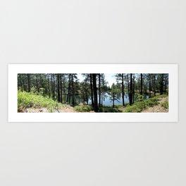 Forebay Lake, elevation 8,300 feet Art Print