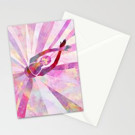 Sleeping Ballerina Floral Stationery Cards