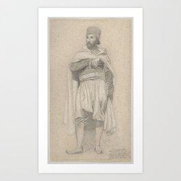 A Turkish Warrior , Niels Simonsen (Danish, Copenhagen 1807–1885 Copenhagen) Art Print