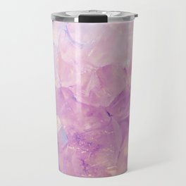 Purple Quartz Crystal Travel Mug