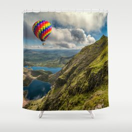 Snowdon Hot Air Balloon Shower Curtain