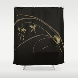 Frog and Ochid Shower Curtain