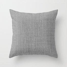 Natural Woven Silver Grey Burlap Sack Cloth Throw Pillow