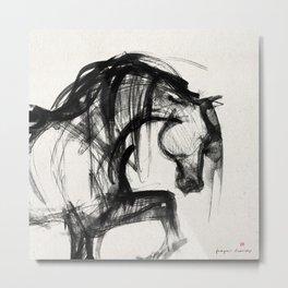 Horse (Saklavi Portrait) Metal Print