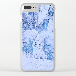 HAPPY FUNNY BUNNY) Clear iPhone Case