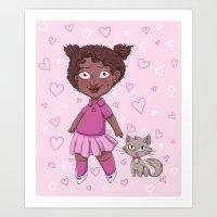 Kid & Kitty Art Print