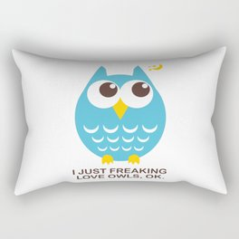 I love Owls Rectangular Pillow