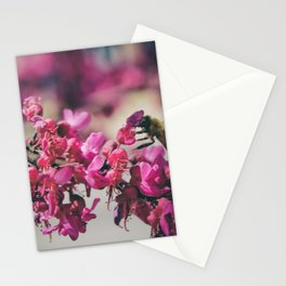 a redbud bee Stationery Cards