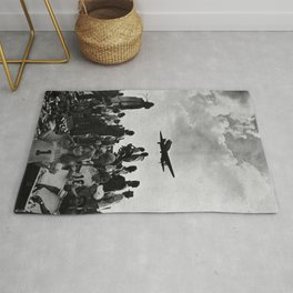 World War II Tailgate Party - Vintage Collage Rug