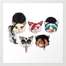 Pop Cats Art Print