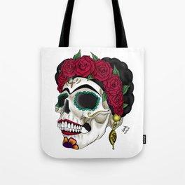 Frida khalo skull Tote Bag