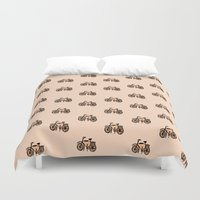 bikes Duvet Covers featuring Bikes by andy_panda_