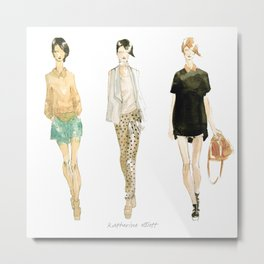 Fashion Sketch - Philip Lim Spring 2011 Metal Print