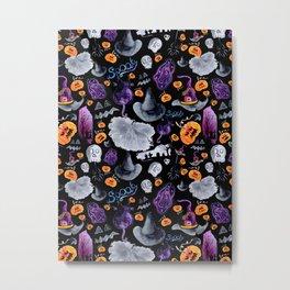 Halloween-Black Background Metal Print