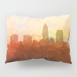 Cleveland, Ohio Skyline - In the Clouds Pillow Sham