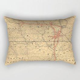 Illinois Central Railroad 1892 Rectangular Pillow