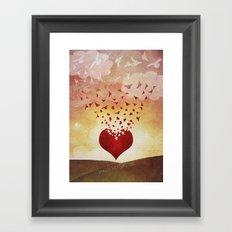 Land of the Rising Love Framed Art Print