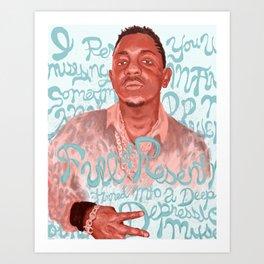 Kendrick Lamar To Pimp a Butterfly Poem Art Print
