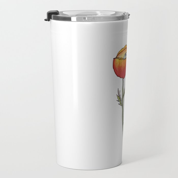 All Seeing Poppy Flower Travel Mug
