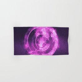 Copyright symbol. Abstract night sky background Hand & Bath Towel