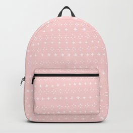 Cross and Diamond Pattern in Pink Backpack