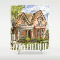 victorian Shower Curtains featuring Victorian Beauty by Shelley Ylst Art