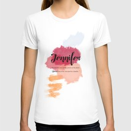 What's your name ? Jennifer T-shirt