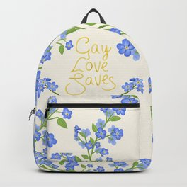 gay love saves Backpack