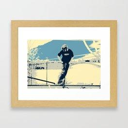 On the Rim - Scooter Boy Framed Art Print