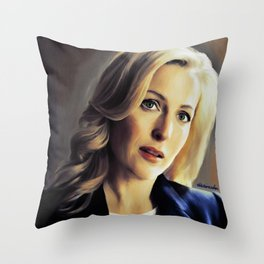 Stella Gibson oli color painting Throw Pillow